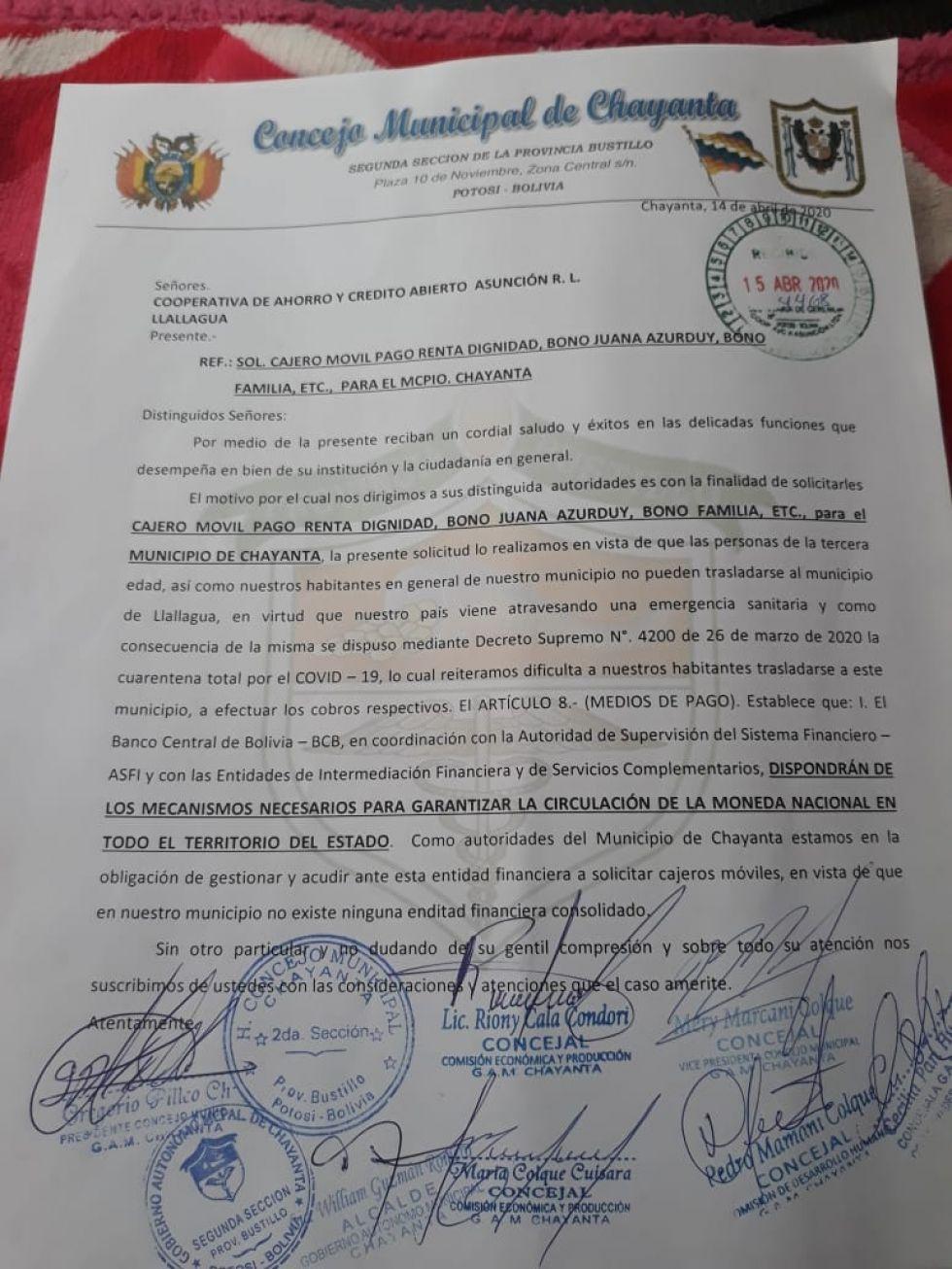 Los pobladores de ese municipio se organizan para cumplir la cuarentena.