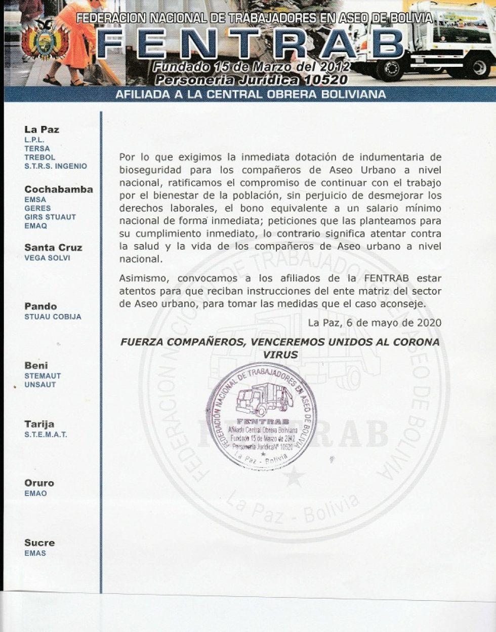 El documento del sector