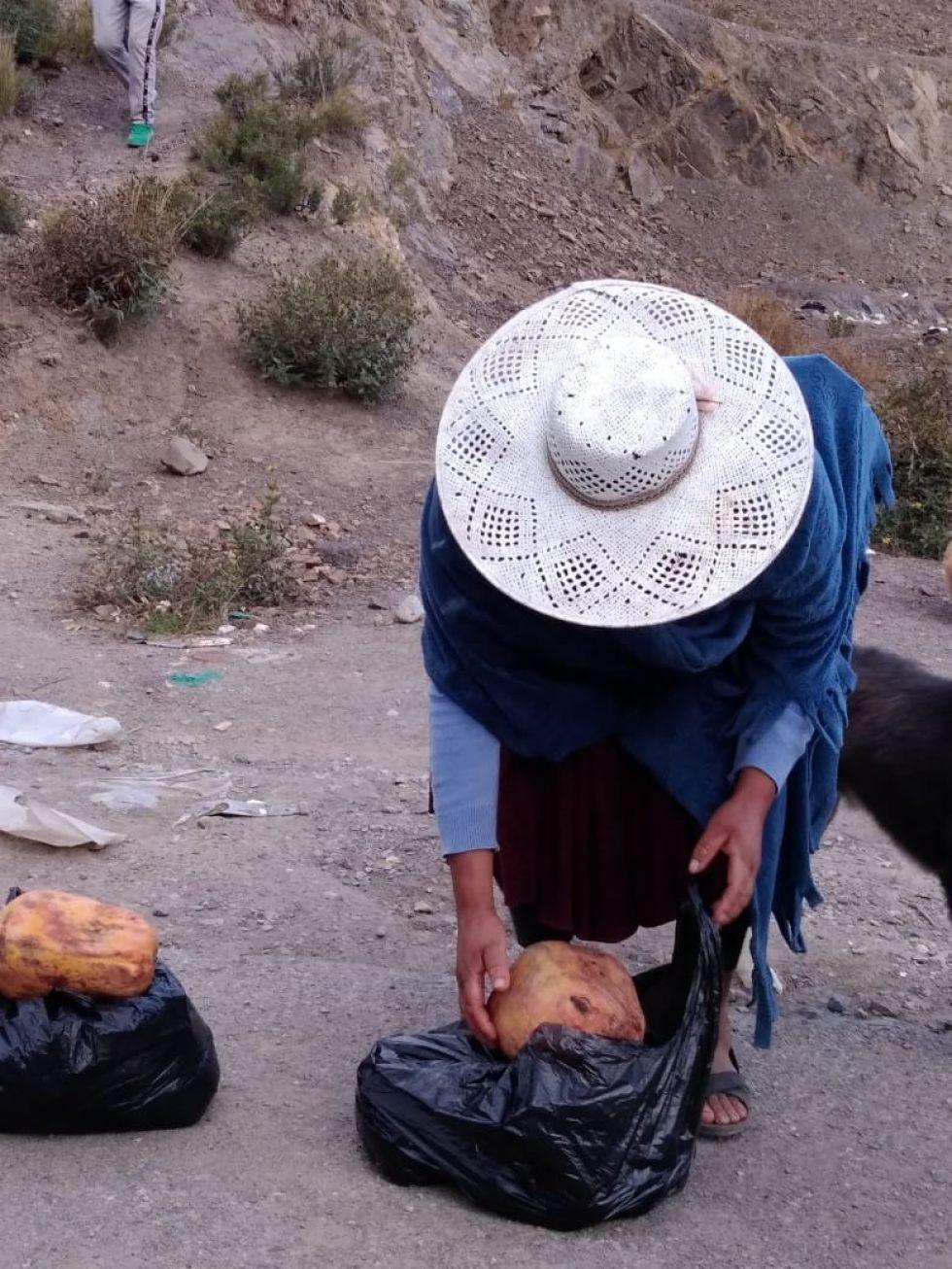 Llevan los alimentos a las familias de pocos recursos económicos.