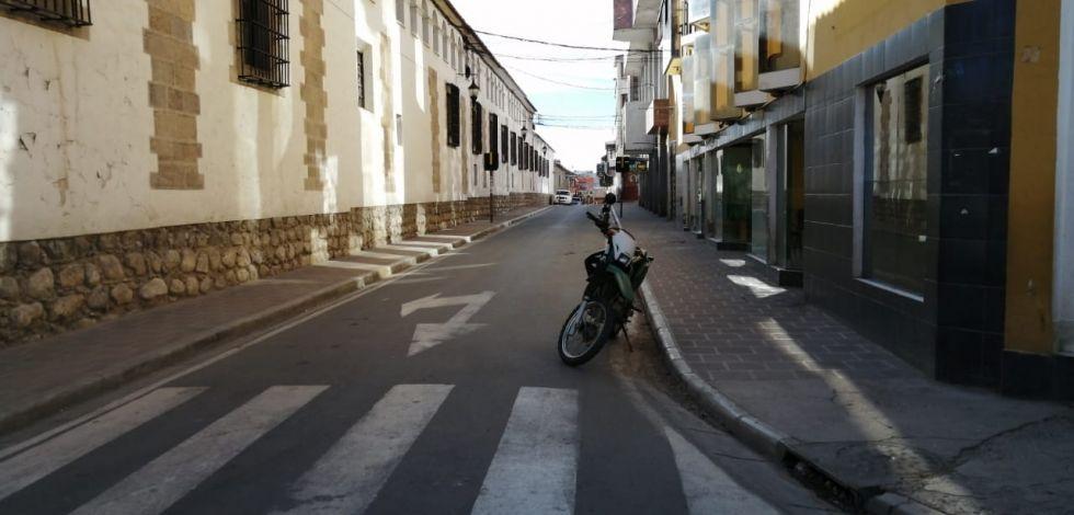 La ciudad antes de la movilización de las 16:00
