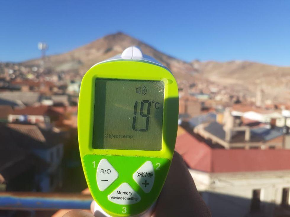 Esto marcaba el termómetro esta mañana.