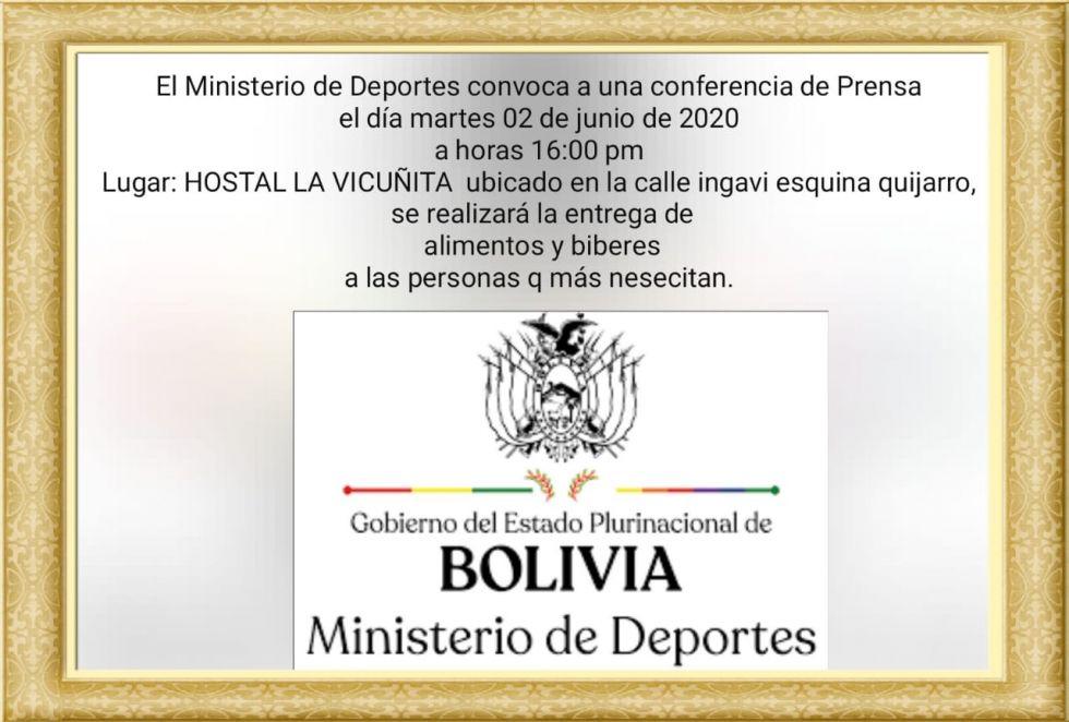 Invitación del Ministerio de Deportes contiene por lo menos seis errores