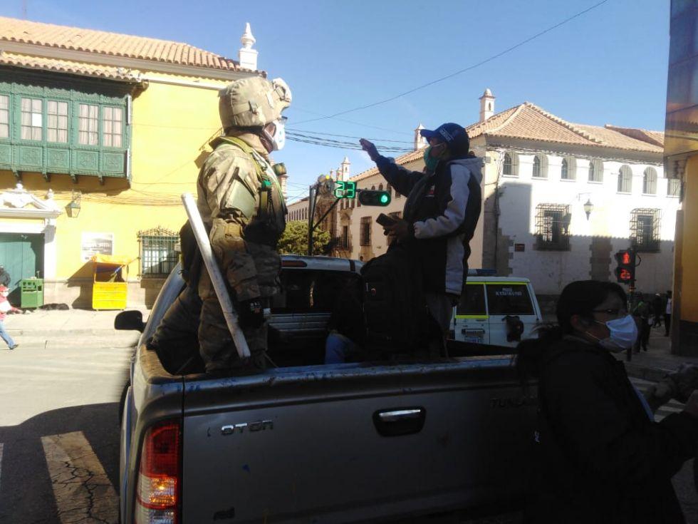 El control se desarrolla en las calles en un operativo conjunto.