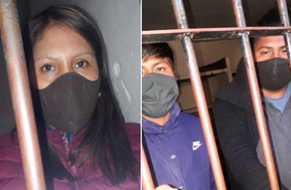 Los dirigentes son procesados en La Paz.