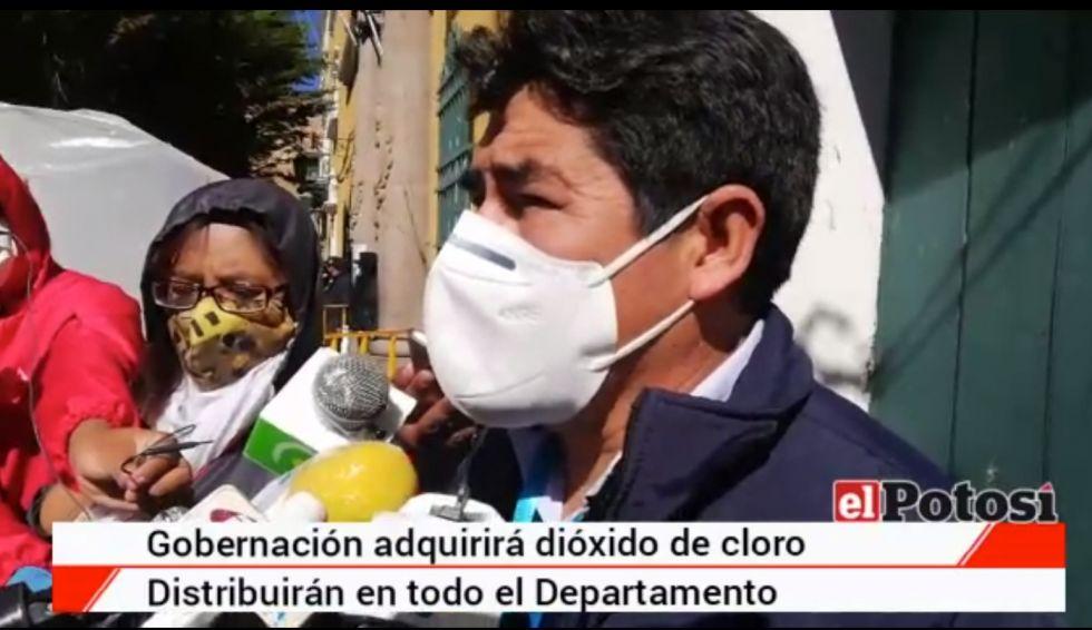 Gobernación de Potosí autoriza el uso de dióxido de cloro para coronavirus
