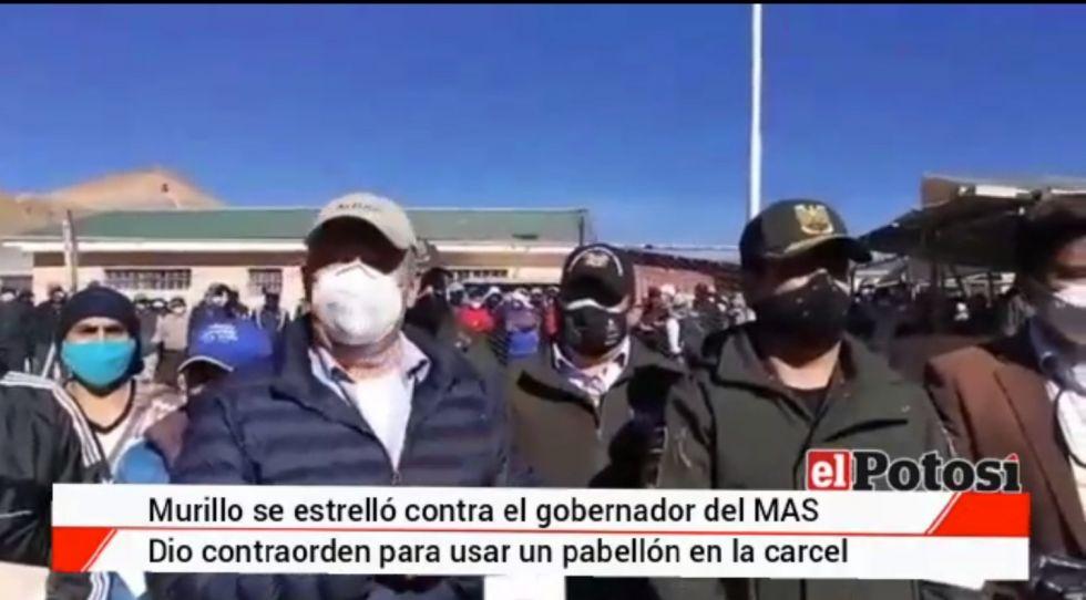 Ministro de Gobierno se estrelló contra el Gobernador del MAS en Potosí