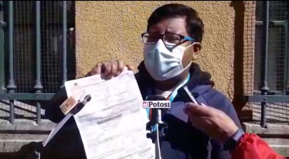 Denuncia de fallecido rechazado en centros sanitarios llega a la Asamblea Legislativa en Potosí
