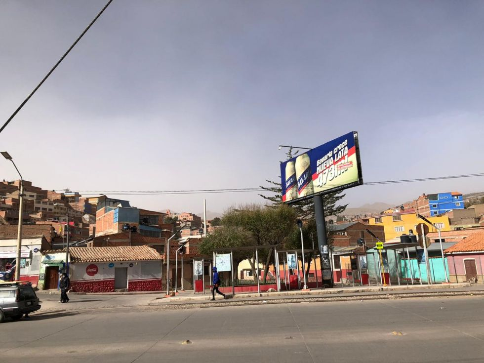 Así estaba Potosí esta jornada.