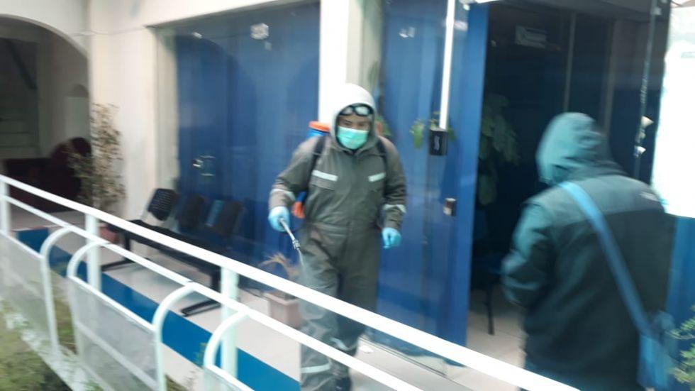 AAPOS suspende atención por desinfección preventiva