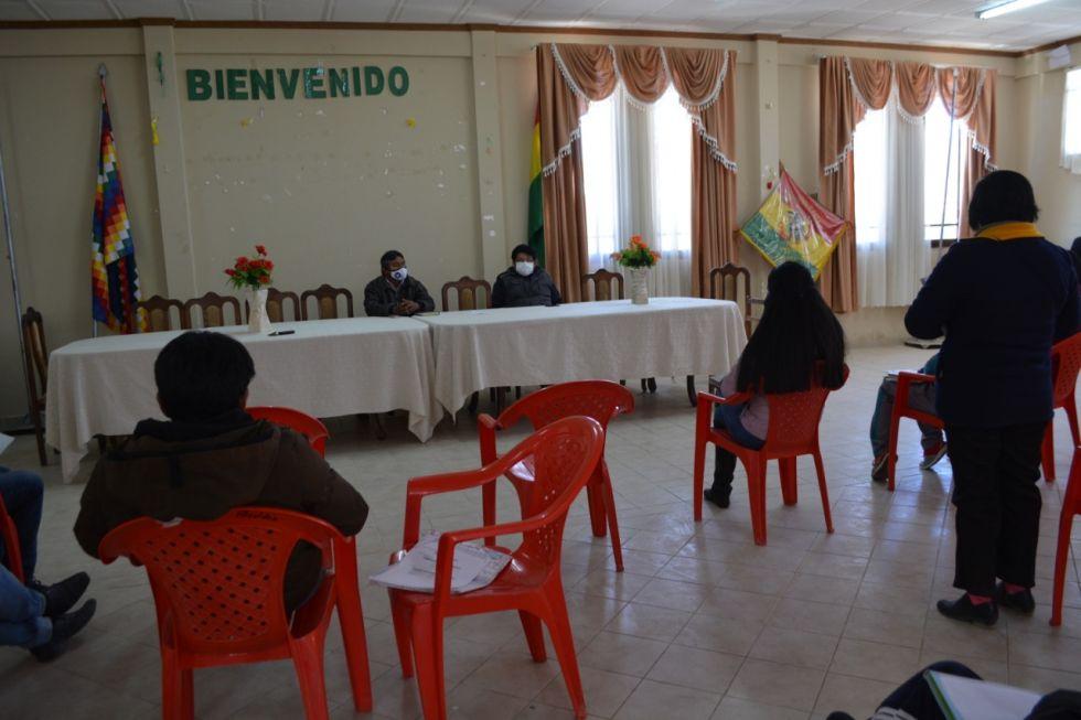 La reunión se desarrolló en Caiza D. FOTO SEDEGES
