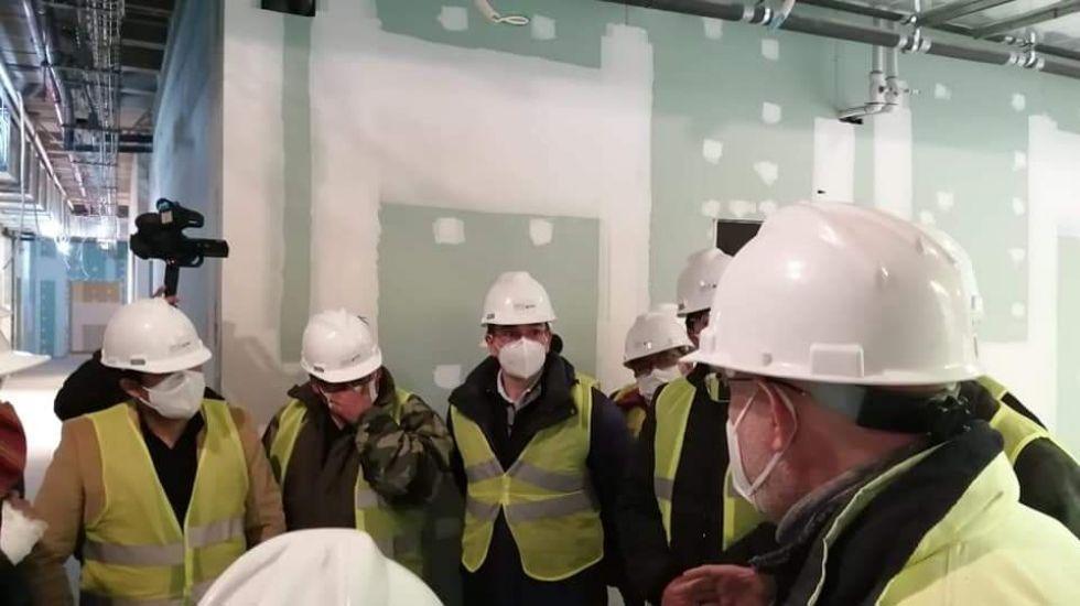 Verificaron el avance de obras en este centro hospitalario.