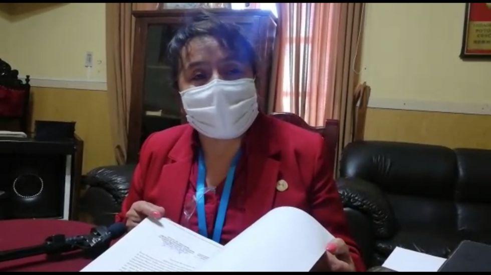 Concejo Municipal de Potosí convoca a Ximena Prieto a reincorporarse