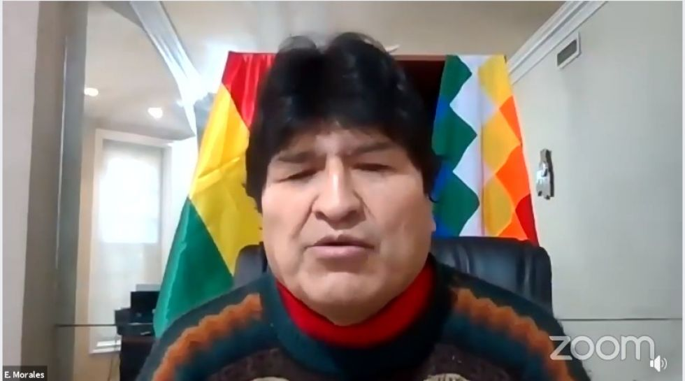 Evo Morales participó e intervino en la sesión de honor de la Asamblea Departamental de La Paz