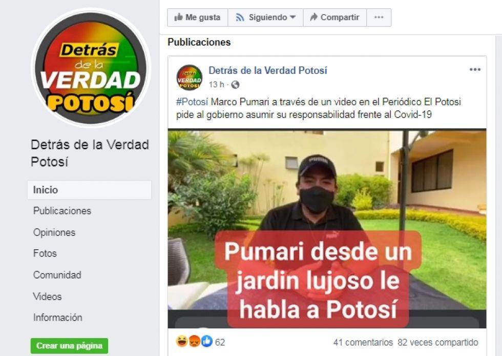 Manipulación en Detrás de la verdad Potosí.