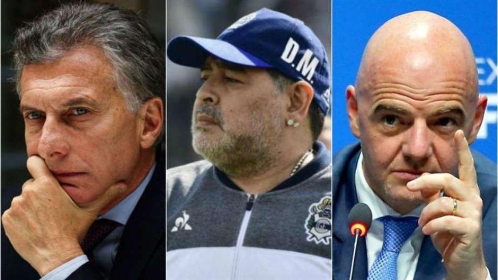 Maradona renuncia a la FIFA y pide cárcel para Macri