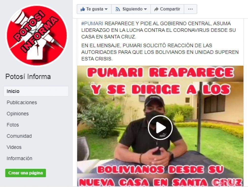 Manipulación en Potosí informa.