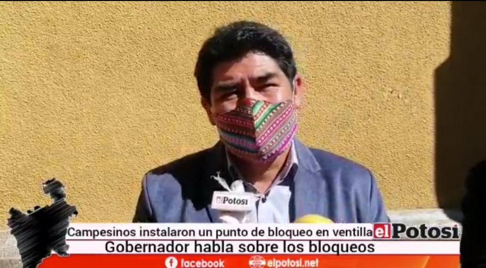 Gobernador se refiere a los bloqueos convocados desde hoy
