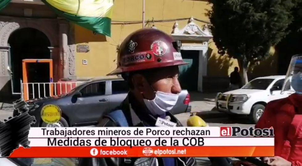 Mineros de Porco desconocen convocatoria a bloqueo de la COB