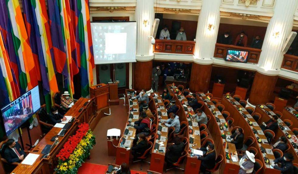 Asamblea cerró Sesión de Honor sin escuchar a Jeanine Añez