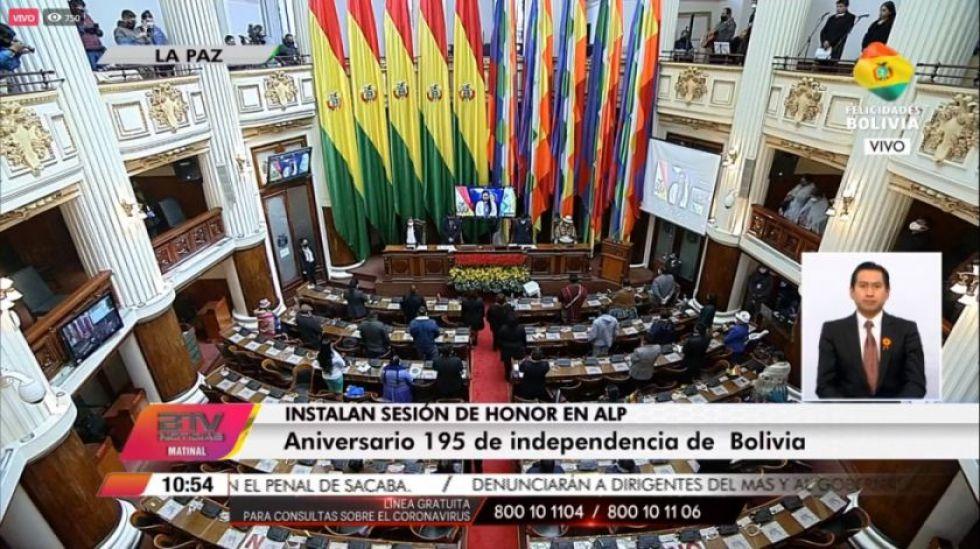 La Asamblea no dio curso al informe de Áñez y Bolivia Tv interrumpió el discurso de Copa