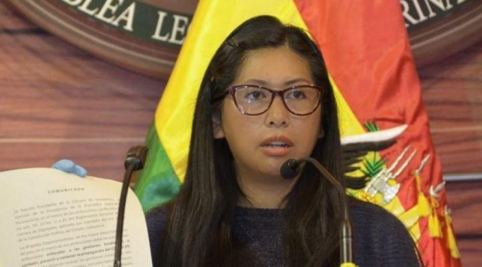 """Eva Copa: """"Es imposible que lleguemos a las elecciones el 6 de septiembre"""""""