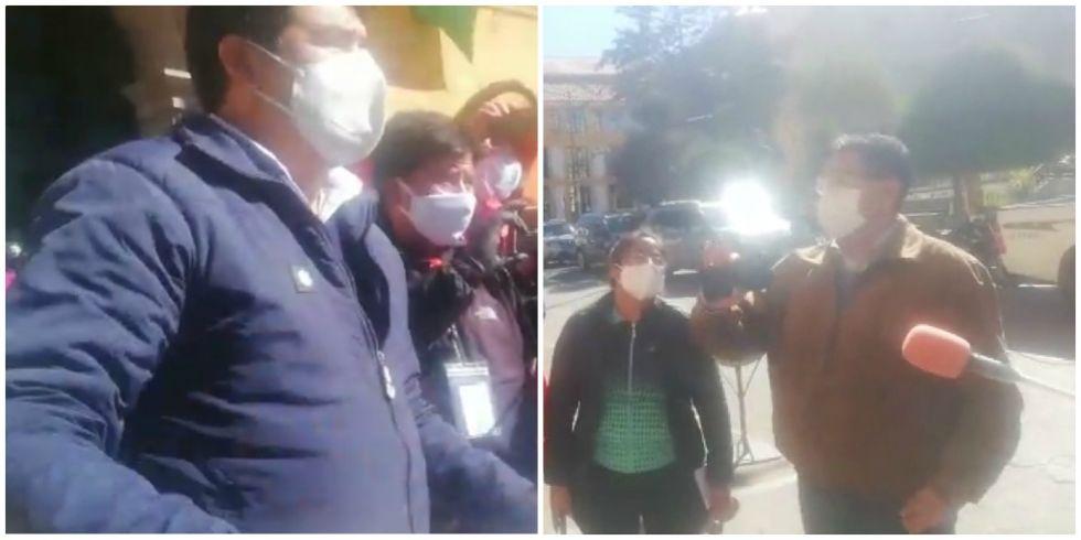 Diputado Barrientos y gobernador Véliz chocan verbalmente en plena plaza