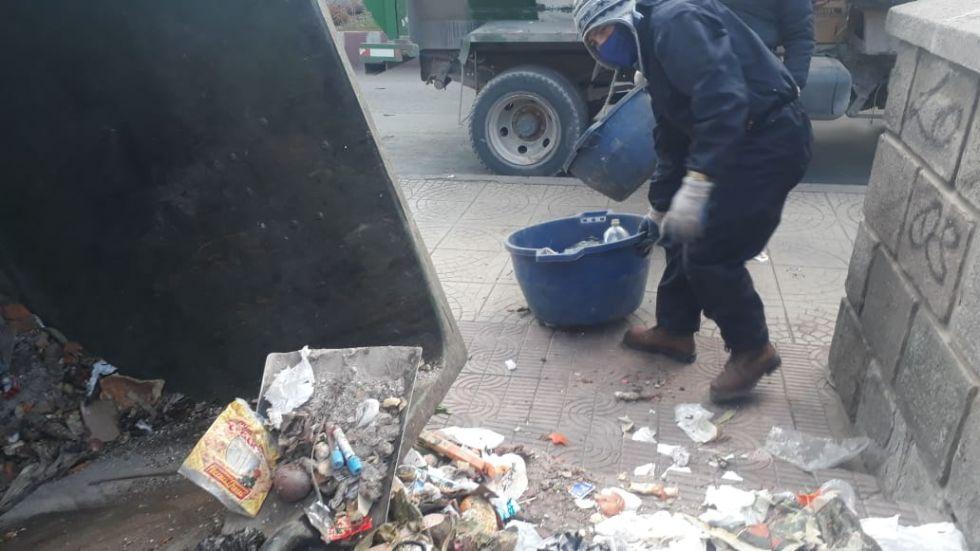 Encontraron este material en contenedores. FOTO EMAP
