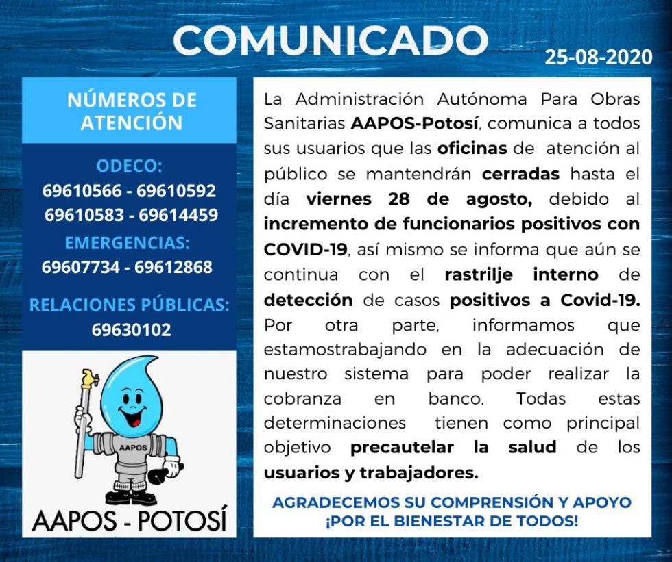 Los comunicados de Aapos con la información de contacto.