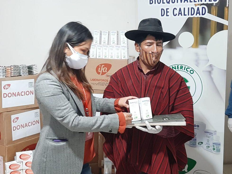 El acto se desarrolló en Sucre. FOTO: LABORATORIOS IFA