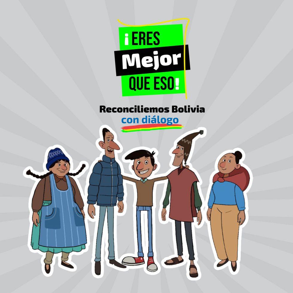 "Se lanzó la campaña ""¡Eres mejor que eso! Reconciliemos a Bolivia con diálogo"""