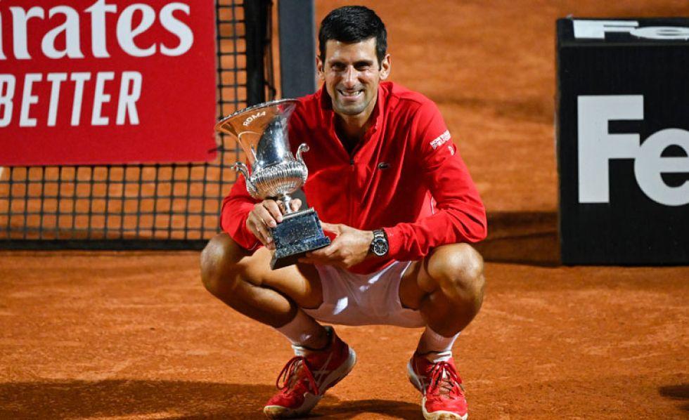 Djokovic logra su quinto título en Roma tras derrotar en la final al argentino Schwartzman