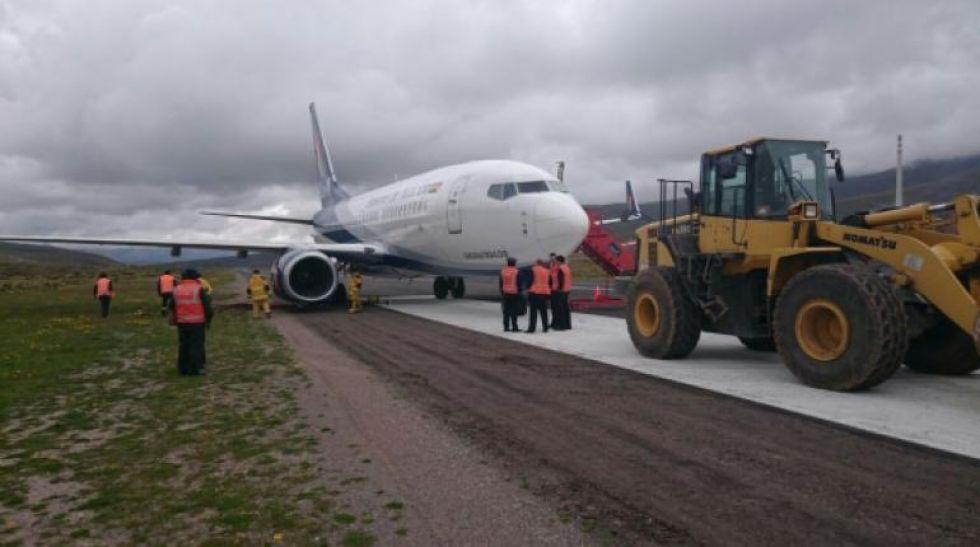 Gobernación afirma que subsanan observaciones para habilitar el aeropuerto de Potosí