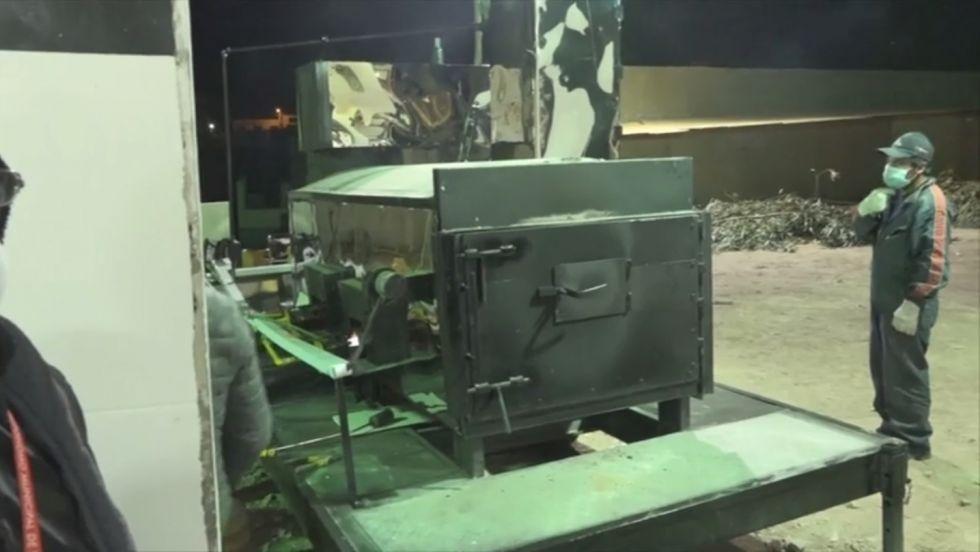 ¿Cuántos restos ya fueron cremados en el horno crematorio móvil?
