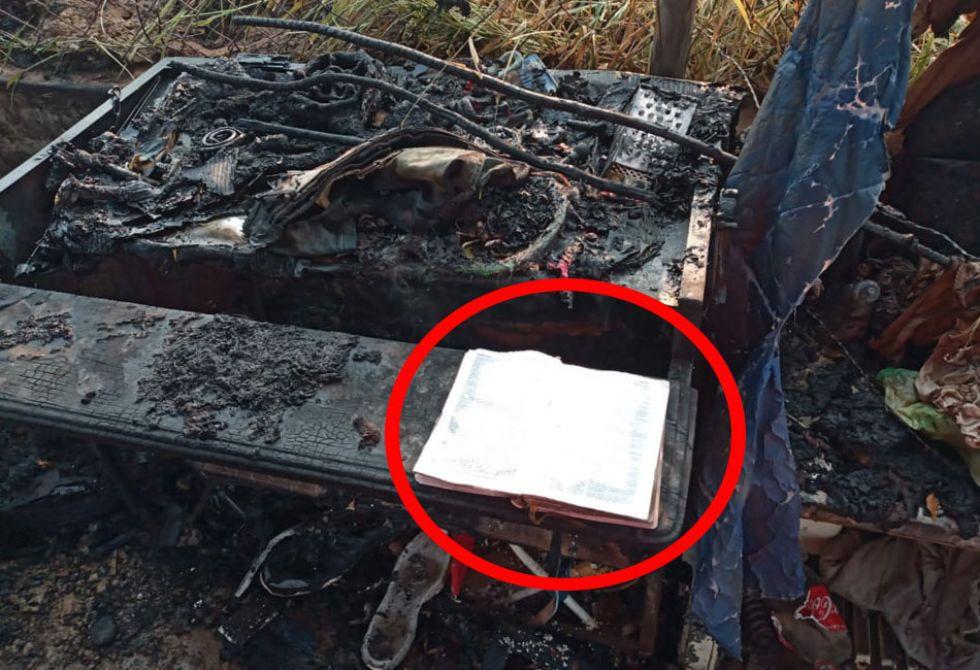 Hubo un incendio en Trinidad, se quemó todo, menos una Biblia ¿milagro?