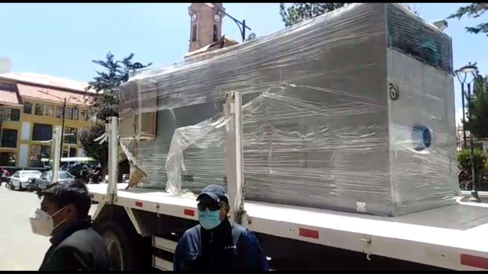 Horno crematorio de la Gobernación ya está en Potosí