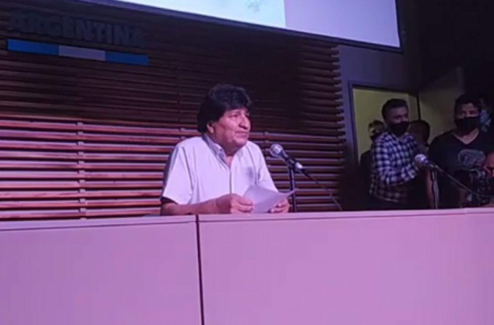 Evo Morales proclama triunfo del MAS en las elecciones 2020