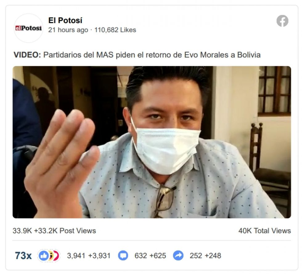 Video de El Potosí se viraliza en Facebook