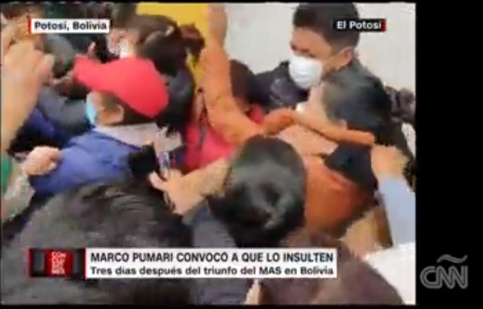 Así reflejó CNN los hechos en Potosí ante la convocatoria de Marco Pumari