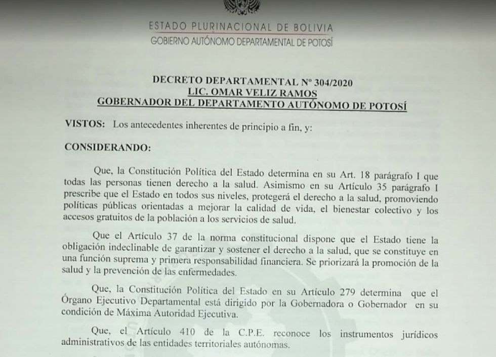Vea el nuevo decreto departamental de la cuarentena dinámica para noviembre