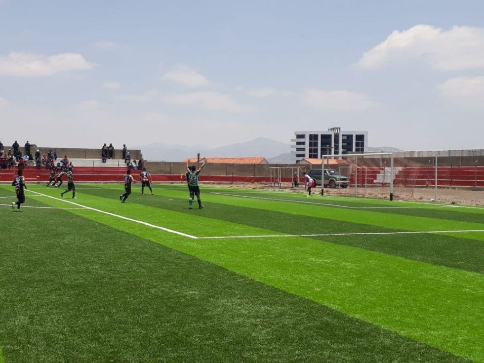 El partido se jugó en el Estadio Potosí.