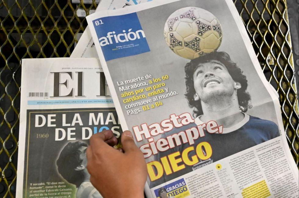 Vea los videos sobre la muerte de Diego Maradona
