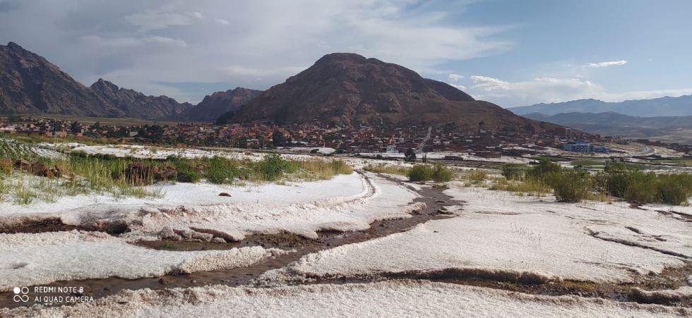 Varias comunidades, como el sector Bartolillo, tuvieron la presencia de este fenómeno este jueves por la tarde. FOTO: JORGE PEÑARANDA