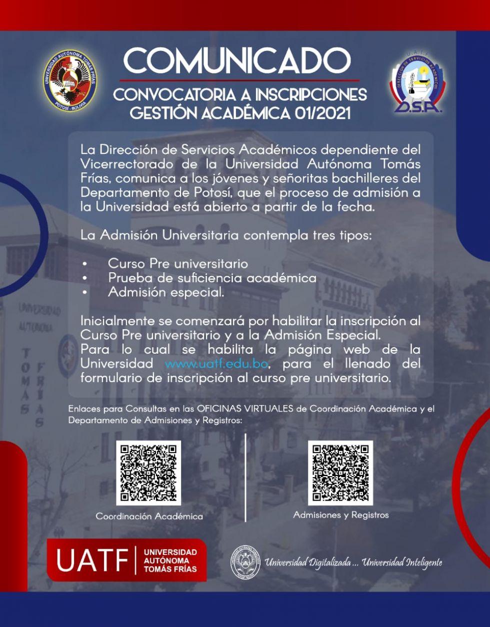 Información para los postulantes a los cursos preuniversitarios