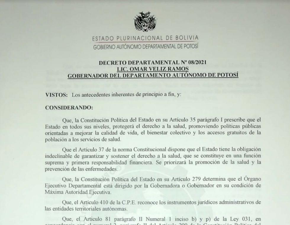 Lea el decreto departamental con las restricciones para prevenir el rebrote