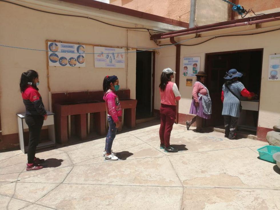 Jatun Manka retoma atención de comedor a niñas niños y adolescentes