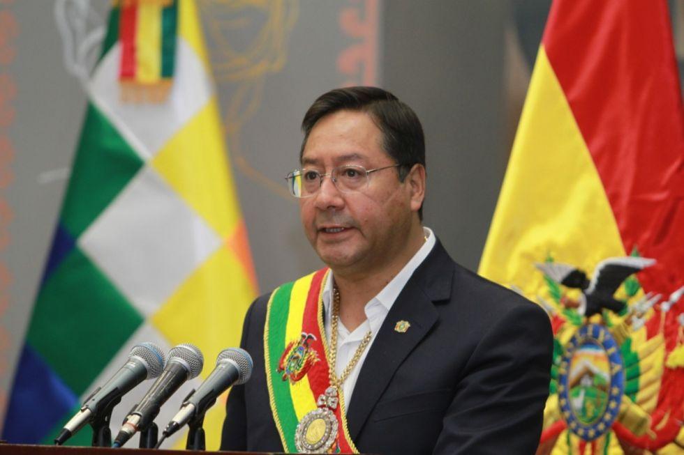 Luis Arce se lanza contra el gobierno anterior y lo acusa de los problemas que vive el país