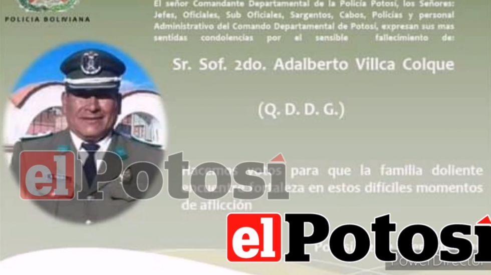 Fallece un policía a causa del coronavirus en Potosí