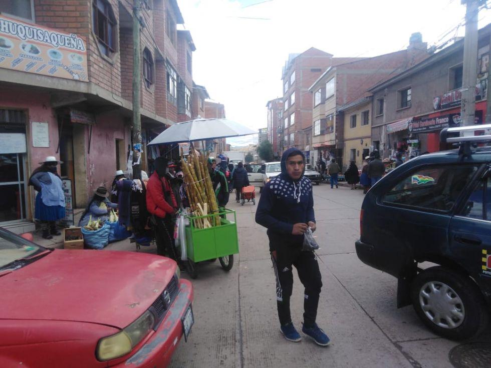 Así está la zona del Mercado Uyuni en plena pandemia