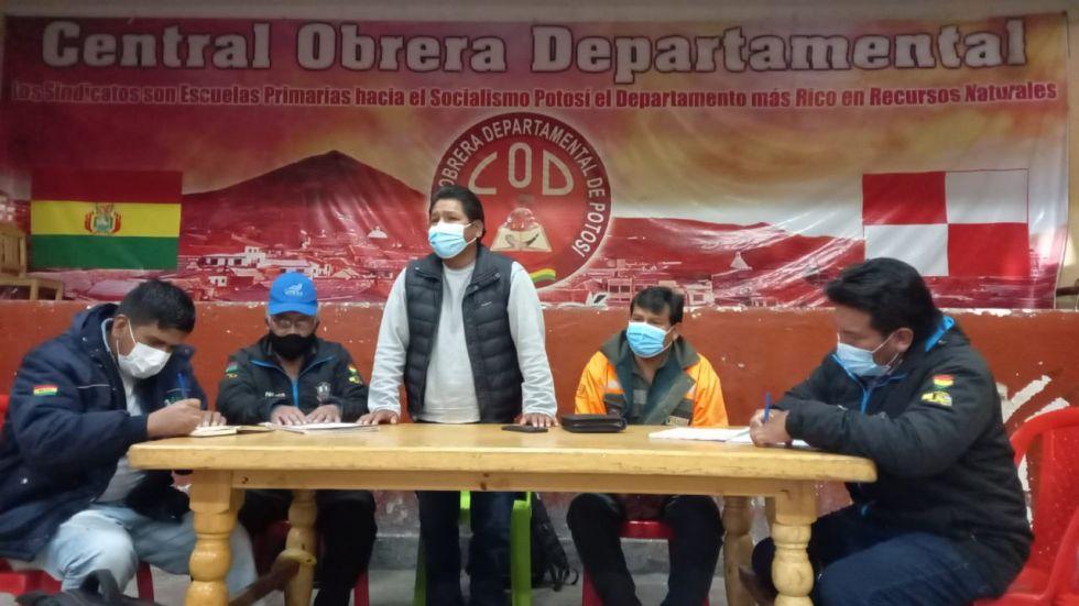 El ampliado se desarrolló en ambientes de la Central Obrera Departamental de Potosí.