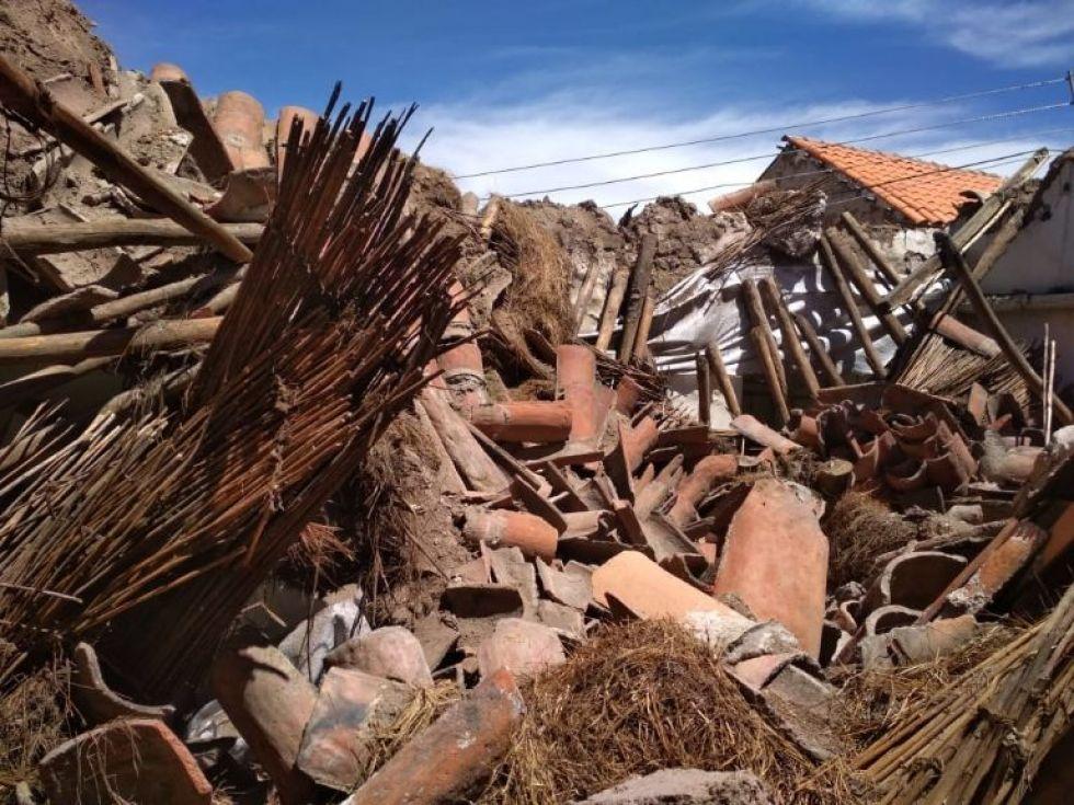 Fotos del daño que sufrió la casa de Armando Alba.